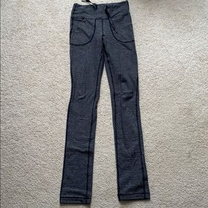 lululemon skinny will pant black charcoal pique 4